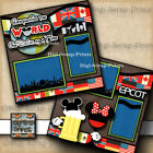 DISNEY EPCOT DRINKING AROUND THE WORLD 2 premade scrapbook pages layout A0189