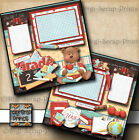 SCHOOL GRADE boy 2 premade scrapbooking pages paper printed layout DIGISCRAP