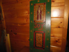 Vintage Hand Painted Wooden SHUTTER with Santa Claus
