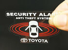 2 Toyota Car Alarm Decals Insideoutside Glass Security System Window Stickers