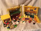 Vintage Fisher Price School House 1971 With Accessories