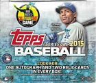 2015 Topps Series 1 Baseball Sealed Jumbo Box of 10 50 Card Packs 1 Auto 2 Relic