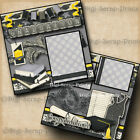 Graduation Boy 2 premade scrapbook pages layout printed paper piecing digiscrap