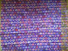 Kaffe Fassett Fabric Pansy GP23 blue purple background Fat quarter OOP rare