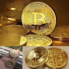 Gold Plated Physical Bitcoins Casascius Bit Coin BTC With Case Gift Metal USA