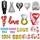 I LOVE YOU Heart Bride Groom Design Foil Helium Balloon Wedding Party Decoration