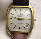 Vintage Zenith Respirator 28800 Men's Automatic Watch Gold Clamshell Case