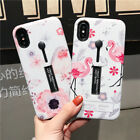 Flower Flamingo Leaves Stand Holder Ring Hard PC Case for iPhonw X 8 Plus 7 6S