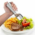 Electric Salt and Pepper Grinder Set Battery Operated Stainless Steel Mill LED
