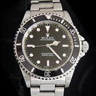 Rolex Submariner Stainless Steel Watch Black Dial Bezel Mens No Date Sub 14060