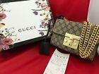 Gucci Padlock Small GG Bees Shoulder Bag Authentic with Box and Receipt