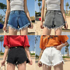 S XL Vintage Womens Denim Shorts Ladies High Waisted Shorts Jeans Hotpants Sexy