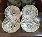 4 Vereco France Vintage Clear Glass Fruit Dishes / Bowls
