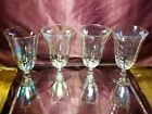 Vintage WEST VIRGINIA GLASS SPECIALTY Optic Iridescent Luster Glass Goblet Set