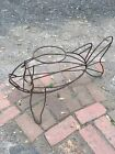 Frederick Weinberg Style Mid Century Thick Metal Wire Fish Plant Stand