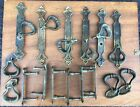16 Vintage brass handles ring shaped and ornate