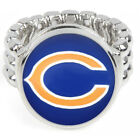 Chicago Bears Silver Team Ring Fits All Sizes +Free Gift Pg Football D2-1