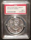 PSA 7 NM 7 - Patrick Ewing New York Knicks 1991 NBA Starting Lineup Coin