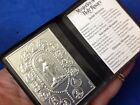MYSTERIES OF THE ROSARY Silver Metal Saint Plaque Folder Pocket Catholic SHRINE