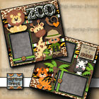 This Place Is A Zoo Boy 2 premade scrapbook pages paper piecing layout Digiscrap