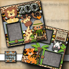 This Place Is A Zoo Girl premade scrapbook pages paper piecing Digiscrap A0015