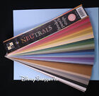 DCWV Textured BORDER PUNCH STRIPS 87 Sheets NEUTRALS Paper Crafts CARDSTOCK