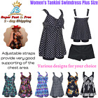 Womens Plus Size Beachwear Summer Swimsuit Two Piece Swim Dress Tankini Swimwear
