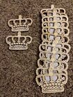 wooden laser cut shapes Crowns Lot of 13