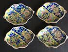 Vintage Hand Painted Open Salt Cellars Dishes Unmarked Set of 4