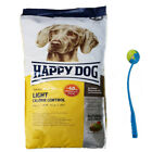 Happy Dog 125 kg Supreme Light Calorie Control Hundefutter Diät  Ballschleuder