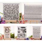 Clear Silicone Rubber Stamp Cling Seal Scrapbooking Diary Card DIY Decor Craft