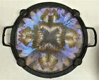 ART DECO ARTS CRAFTS ERA FRENCH WROUGHT IRON BUTTERFLY SERVING TRAY F. BILLERE