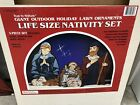 Vtg Giant Outdoor Holiday Lawn Ornaments Life Size Nativity Set True To Nature