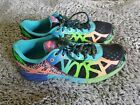 ASICS GEL NOOSA TRI 9 Running Shoe Black Neon Coral Green Sneakers 95