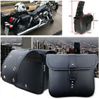 2X Waterproof Motorcycle PU Leather Saddle Bags Storage Trims Pouch Left