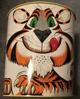 Vintage Mid Century Tony The Tiger Exxon Tiger  Metal Trash Can by Cheinco USA