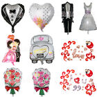 Heart Bride Groom Designs Foil Helium Balloon Wedding Day Party Decoration