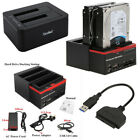 External Triple SATA IDE HDD Docking Station 25 35Hard Drive Card Reader U
