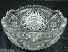 VINTAGE CUT GLASS OR CRYSTAL SALAD FRUIT BOWL VASE STARBURSTLONE STAR PATTERN