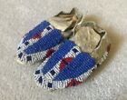 PAIR of SIOUX BABY MOCCASINS, c. 1890s - Excellent Condition