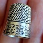 Beautiful Antique Ketcham and McDougal sterling Silver Thimble size 8 Sewing