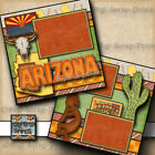 ARIZONA vacation travel 2 premade scrapbook pages paper piecing 12x12 digiscrap