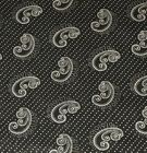 1 Yard Black  White Paisley Dots Cotton Quilt Fabric BTY
