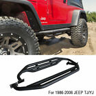 Fits 1986 2006 JEEP TJ YJ Textured Armor Bars Nerf Bars Side Step Running Boards