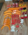 HUGE Lot Vintage Hot Wheels Track straight curves speedometer Lot redline era