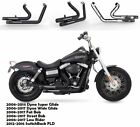 Slip On Pipes Muffler Exhaust Fit for Harley Dyna Super Glide Wide Glide B2