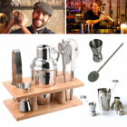8Pcs Stainless Steel Cocktail Shaker Mixer Drink Bartender Martini Tools Bar Set