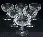 Waterford Ireland Irish Crystal 6 Champagne Or Sherbets In The Colleen Pattern