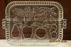 Glassware Vintage Indiana glass relish tray, Thick an Heavy, 12.5 by 9 inch, No