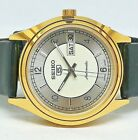 seiko5 automatic men's gold plated silvar dial vintage japan made watch ORDER 11